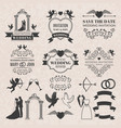 vintage labels set for wedding invitation vector image