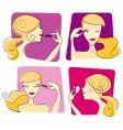 woman makeup vector image