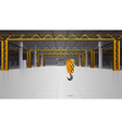 Warehouse interior realistic design vector