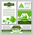 landscape design business banner template set vector image