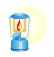 icon lamp vector image