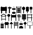 Set of different directional signs vector image vector image