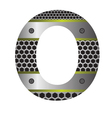 perforated metal letter O vector image