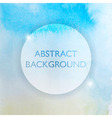 Abstract Watercolor Blue and Yellow Background vector image