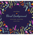 Cute floral background with flowers vector image vector image