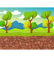 forest with stone view for you design vector image vector image