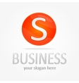 business logotype Circle S vector image