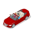 Cabriolet car isometric Flat vector image