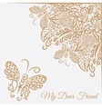 card White background and brown ornament vector image