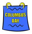 columbus day calendar icon icon cartoon vector image
