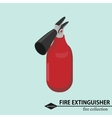 Fire extingsher for fighting Isometric vector image