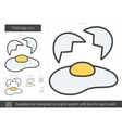 Fried egg line icon vector image