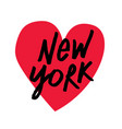 i love new york brush script lettering vector image