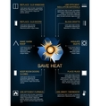 Save heat infographic icons and methods of heat vector image