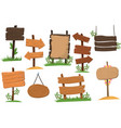 set of wooden signs of various forms tablets vector image