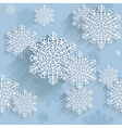 Snowflakes seamless pattern background vector image