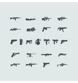 Set of fire weapon icons vector image