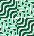 Retro 3D green wavy squares vector image