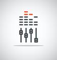 Modern media web icon Sound equalizer vector image