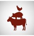 Butcher shop design vector image