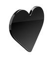 Black Heart vector image