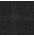 Black linen seamless texture vector image