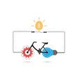 Creative bicycle logo design vector image