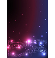 flyer with musical notes vector image