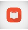 Icon of an open book eps10 vector image