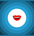 isolated laugh flat icon smile element can vector image