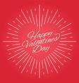 valentines day vintage card design on red vector image