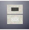 Greeting invitation or business cards design vector image