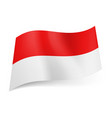 national flag of indonesia red and white vector image