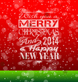 2014 Christmas Vintage typograph design vector image