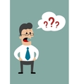 Angry businessman demanding answers vector image vector image