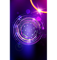 Abstract lens flare background vector image