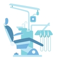 Dentist medical office chair vector image