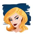 Blonde Woman Portrait vector image vector image