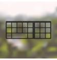 keyboard icon on blurred background vector image