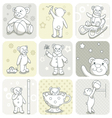 Baby card set vector image