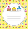 card cupcakes vector image