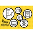Household appliance for home and kitchen icon set vector image