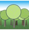 Stylization green forest vector image