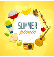 Summer picnic circle concept outdoor holiday vector image