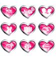 Hearts icons vector image