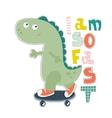 Dinosaur character design for baby fashion Ts vector image