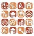 color building icons vector image
