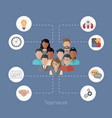 teamwork concept with people teamwork concept vector image vector image