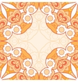 Orange lace seamless pattern vector image vector image