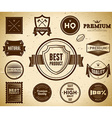 Vintage labels Collection 4 vector image